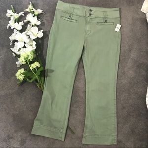 ANTHROPOLOGIE pilcro cropped high-rise flares 32
